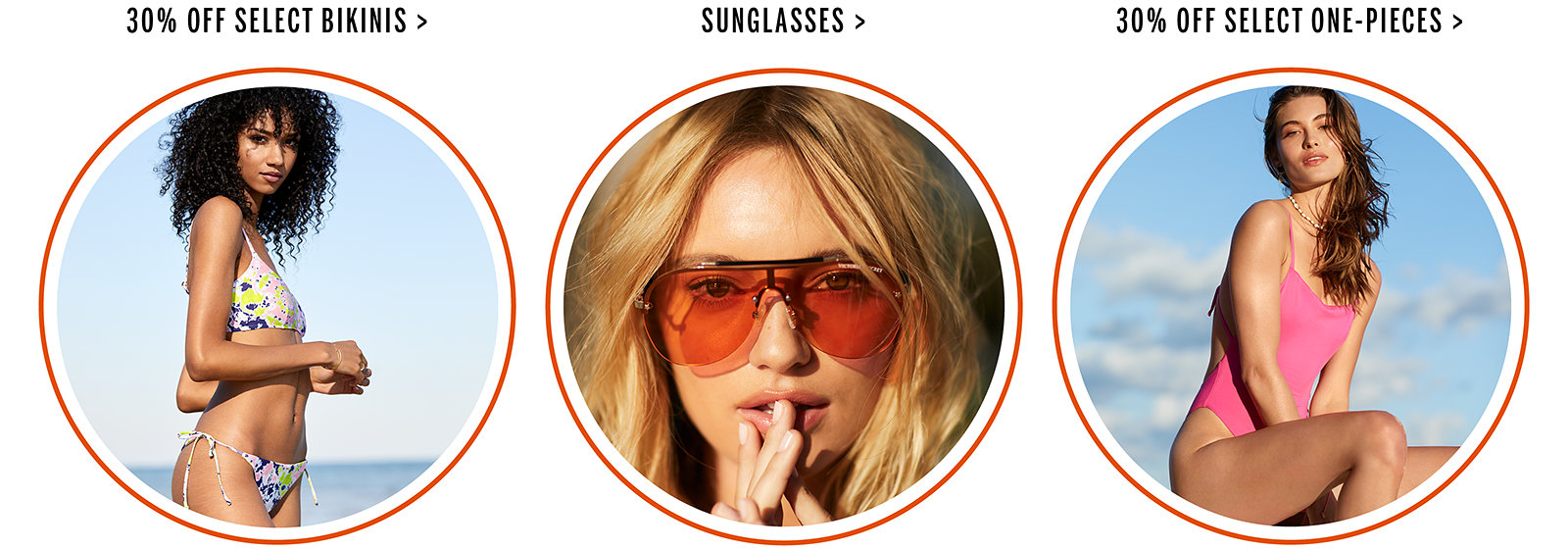 5af4880a5b3 30% Off Select BikinisSunglasses30% Off Select One-Pieces