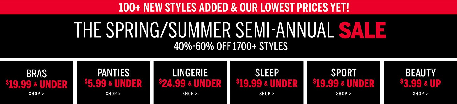 5c9166dab2cc 40%-60% Off 1700+ Styles. Click to shop.100+ New Styles Added and Our  Lowest Prices Yet! The Spring/Summer Semi-Annual Sale.