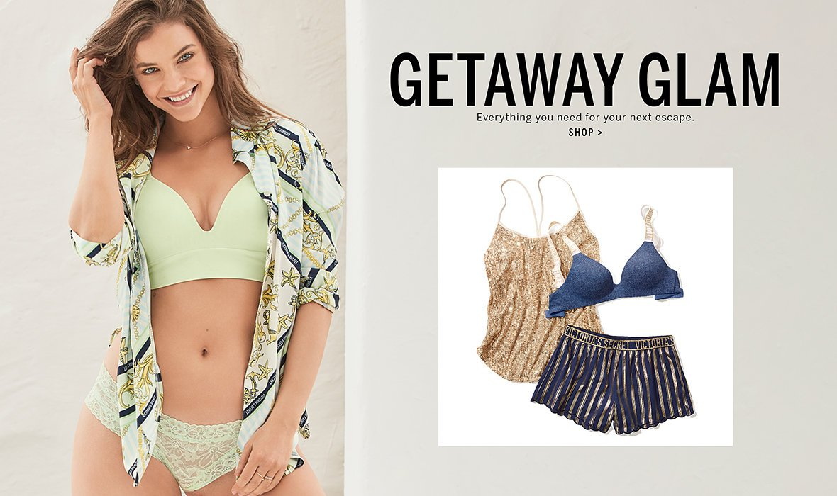 593257cdecea Getaway Glam. Everything you need for your next escape. Click to shop. New!
