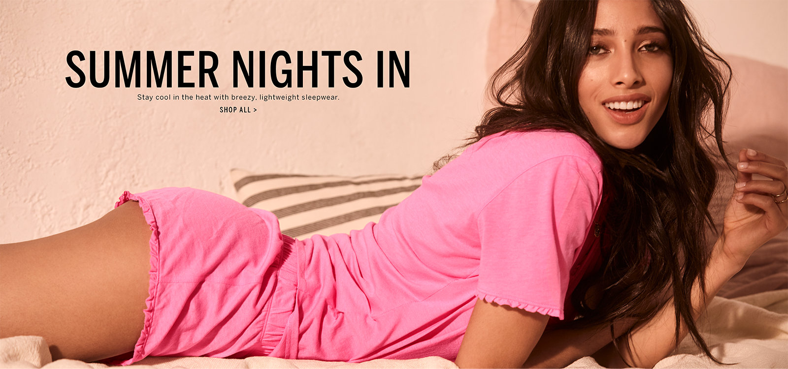44ea8f3dd9 Summer Nights In. Stay cool in the heat with breezy, lightweight sleepwear.  Click. Shop by PJ Separates.