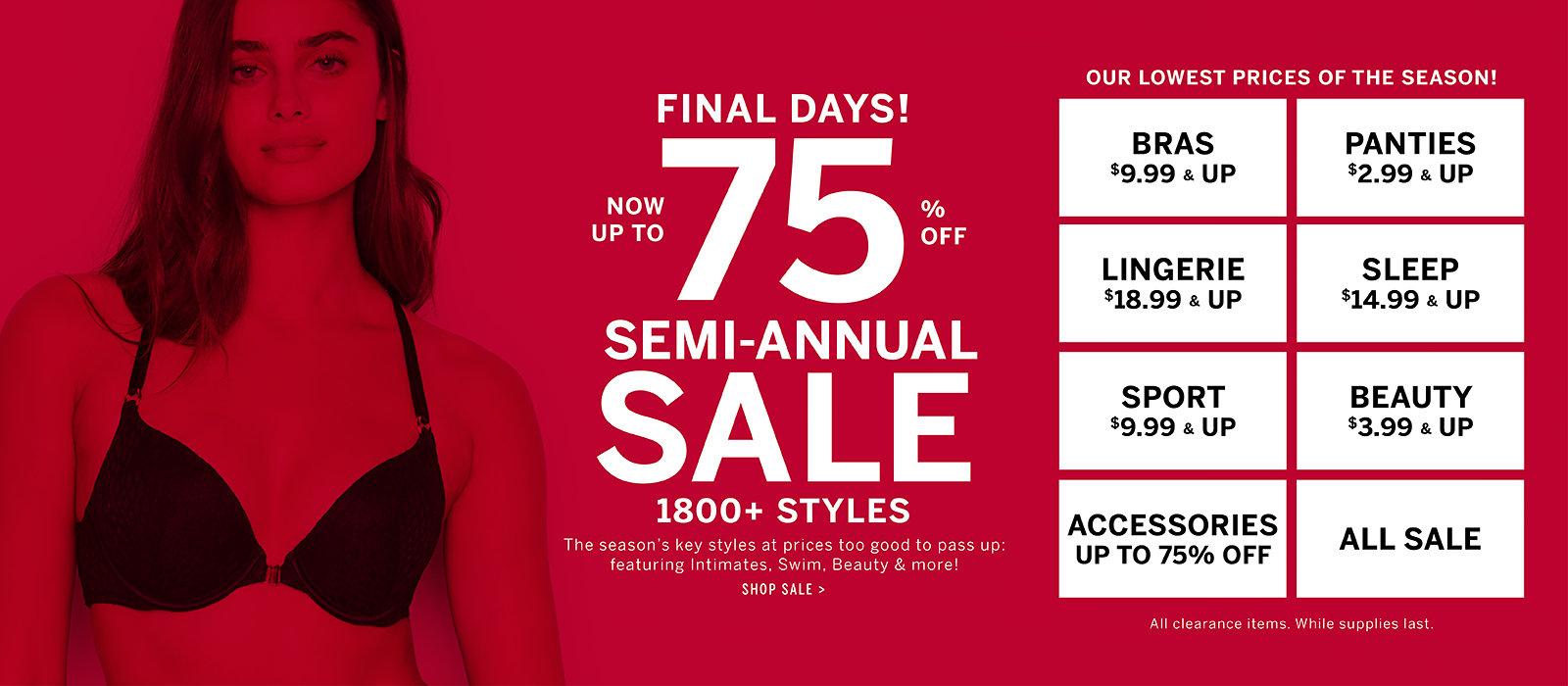 when is victoria secret semi annual sale 2020