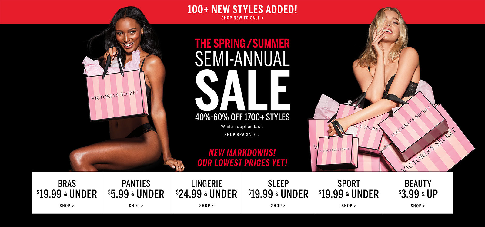 034afa13d8a0 Shop New To SaleThe Spring/Summer Semi-Annual Sale. 40%-60% off 1700+  styles. While supplies last. New markdowns! Our lowest prices yet! Shop bras  sale.
