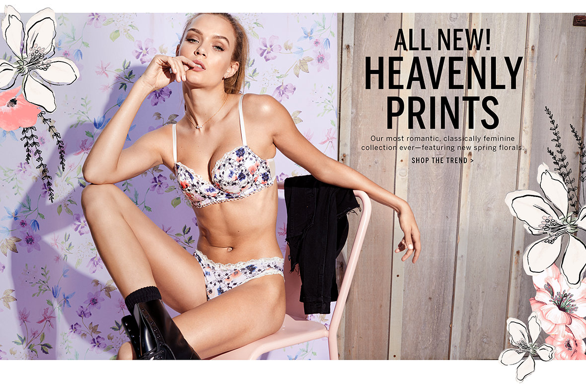 eabaca3650ba All New! Heavenly Prints. Our most romantic
