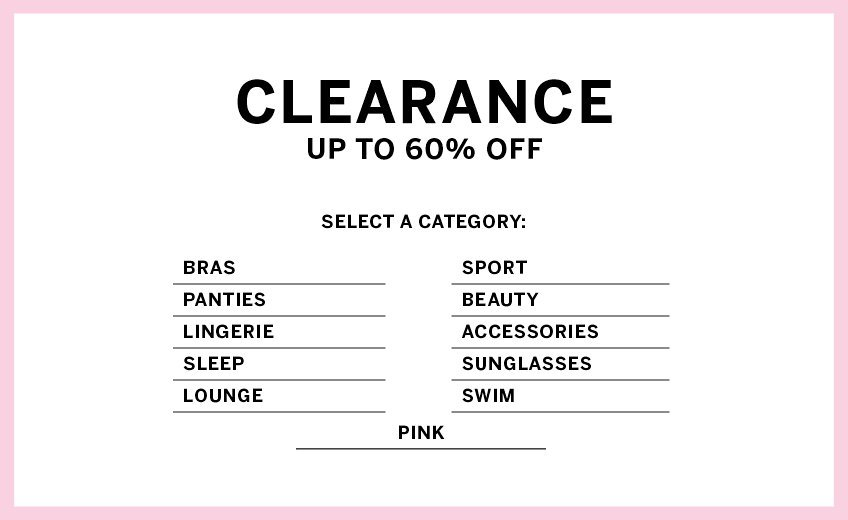 Shop All Clearance - Victoria's Secret