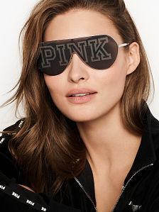 1b12b55964706 Wraparound Shield Sunglasses - PINK - VSD