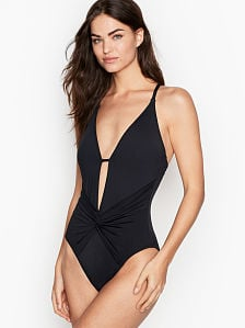 bdd23bd42f2 Victoria's Secret, Convertible Twist Front One-piece, onModelFront, ...