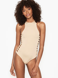 d9f36f2985933 Victoria's Secret, Open Side One-piece, onModelFront, 1 of 4