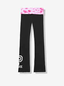 5508fb5156896 Sequin Bling Cotton Yoga Flare - PINK - pink