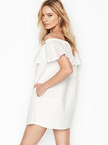 02d25b01427 Victoria's Secret, Off-the-shoulder Ruffle Dress, onModelBack, ...