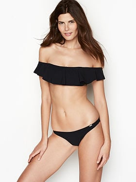 6435591952 Banana Moon Crochet Trim Triangle Top QUICK VIEW. Off-the-shoulder Ruffle  Bandeau