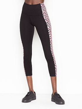 Women Victoria's Secret Pink Yoga Pants Black Sparkle Glitter Size Small Volume Large Women's Clothing Activewear