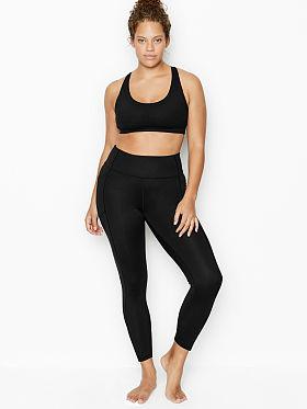 Details about  /VICTORIA/'S SECRET Sport Black Pink Sports Bra Large L NEW Active Gym Yoga VS