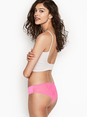 f186c2471df Sexy Illusions by Victoria s Secret No Show Mesh Cheeky Panty in Logo Mesh