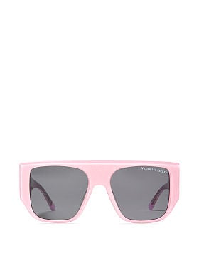 a139c1ca01d Oversized Flat-Top Sunglasses