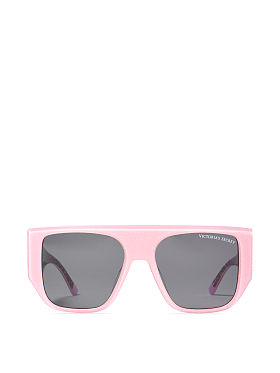 fabfc333dbc227 Victoria s Secret Sparkle Rounded Cat Eye Sunglasses QUICK VIEW. Oversized  Flat-Top Sunglasses