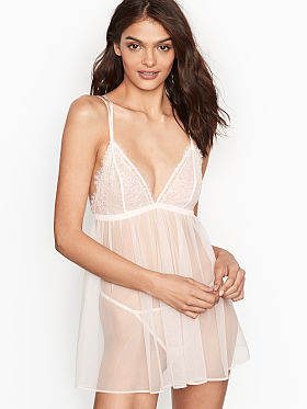 81102d3d386 Very Sexy Chantilly Lace   Mesh Babydoll