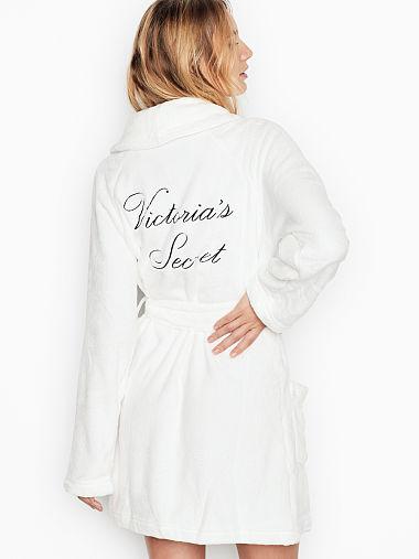 Logo Short Cozy Robe