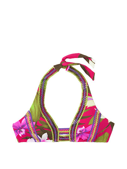 5757f44301754 Victoria's Secret, Miss Bikini Luxe Curved Halter , Floral, offModelFront,  ...