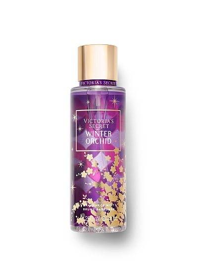 Victoria's Secret Scents of Holiday Fragrance Mists, Winter Orchid, offModelFront, 1 of 2