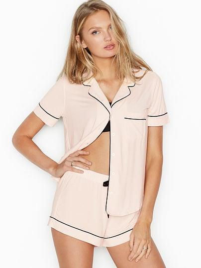 Victoria's Secret, Victoria's Secret The Modal Short PJ Set, Mauve Chalk,