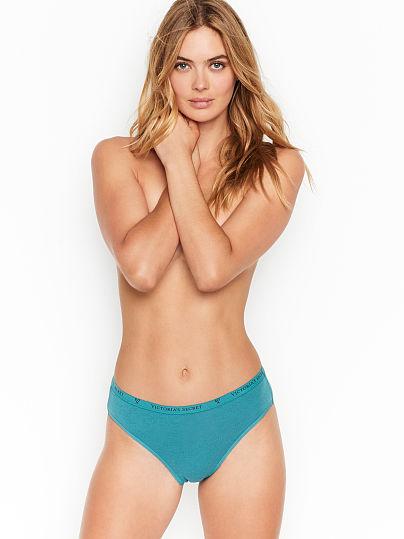 Victoria's Secret, Victoria's Secret new Stretch Cotton High-Leg Brief Panty, Lavish Teal,