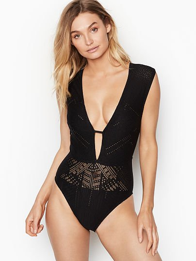7320caef34 Cross Back V-plunge One-piece - Kenneth Cole - vs