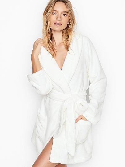 Victoria's Secret, Victoria's Secret Logo Short Cozy Robe, VS Ivory,