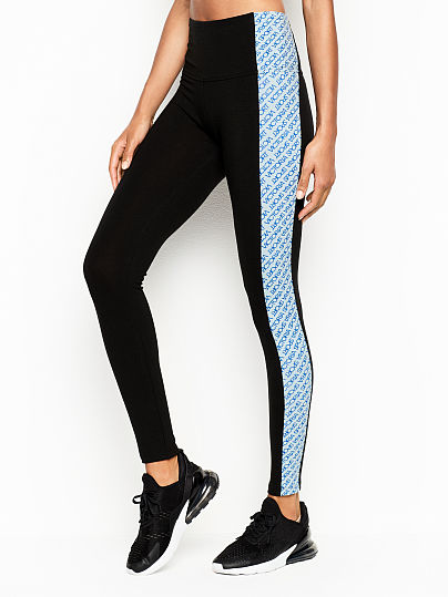 56575f1eca3bf3 Victoria's Secret, Victoria Sport Anytime Cotton High-rise Legging, Vibrant  Blue Logo,