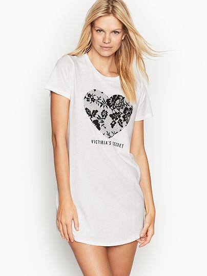 b4d94d5a Crewneck Sleepshirt - Victoria's Secret - vs