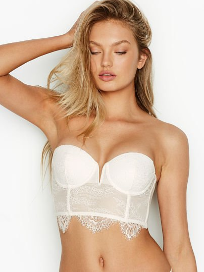 1c090451888 Victoria s Secret Dream Angels Lace V-wire Bustier White featured 1 of 4