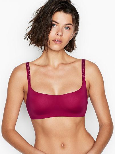 Victoria's Secret, The T-shirt Lightly Lined Wireless Scoop Bra, Razzleberry,