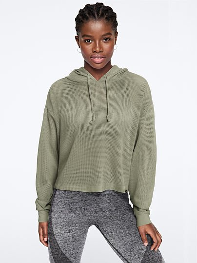 PINK Mesh Slouchy Pullover  , Shale Green,