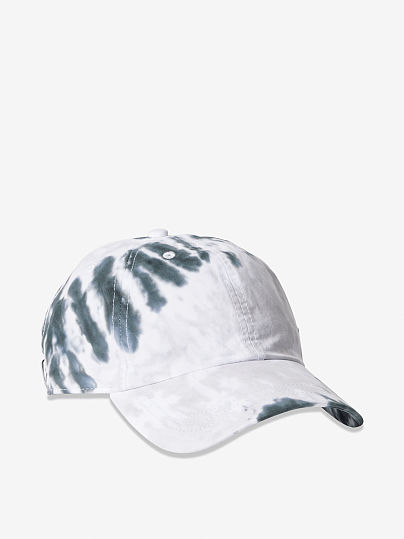 PINK  Baseball Hat, Grey Tie Dye, offModelFront, 1 of 2