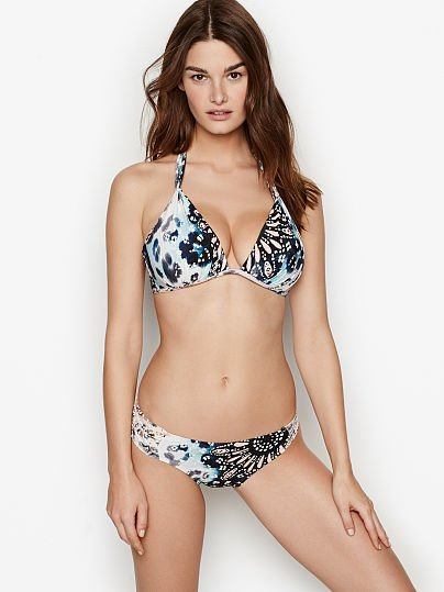 beb2a981f11f3 Victoria's Secret, Kenneth Cole Wireless Push-up Halter, Animal,  onModelFront, 1