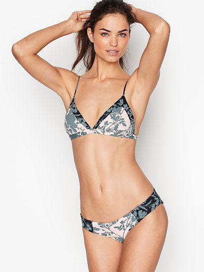 427b071e15 Victoria's Secret, Maaji Reversible Low Rise Bottom, Green Floral,  onModelFront, ...