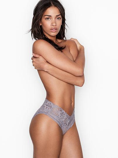Victoria's Secret, The Lacie High-Leg Cheeky Panty, Grape Mist,