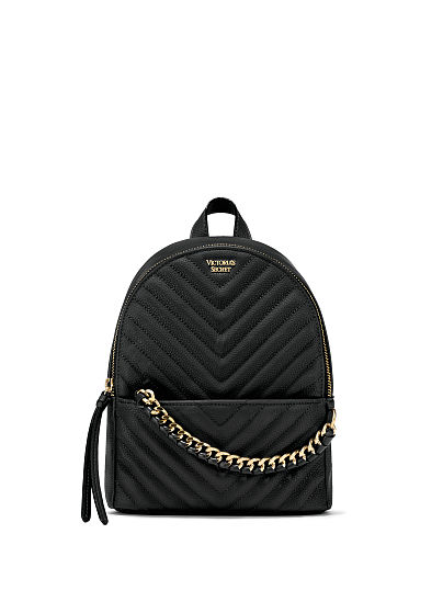 Victoria's Secret, Victoria's Secret Pebbled V-Quilt Small City Backpack, featured, 1 of 5