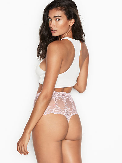 Victoria's Secret, Dream Angels High-rise Thong Panty, featured, 1 of 3
