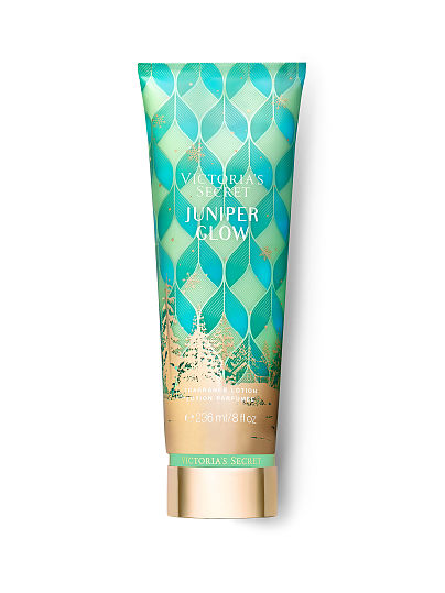 Victoria's Secret new Scents of Holiday Fragrance Lotions, Juniper Glow, offModelFront, 1 of 2