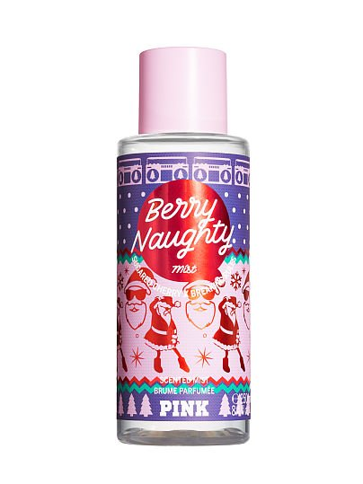 PINK new Limited Edition Snug Life Scented Mists, Berry Naughty, offModelFront, 1 of 2