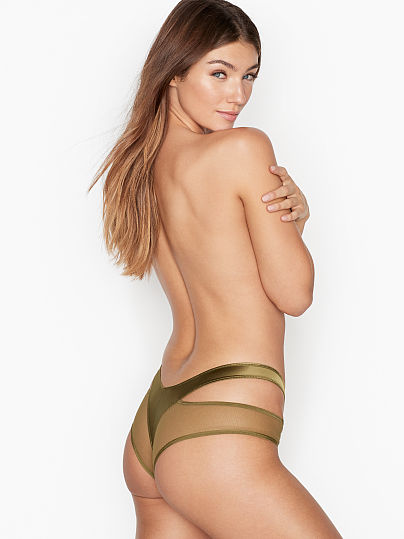 Victoria's Secret, Very Sexy Cutout Cheeky Panty, Greek Olive, featured, 1 of 3