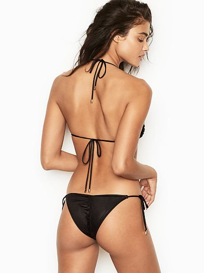 5a885aee5d Victoria's Secret, Normaillot Side Tie Bottom, Black, featured, ...