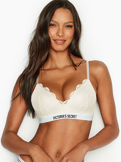 cf0983815d80 The T-shirt Logo & Lace Lightly Lined Wireless Bra