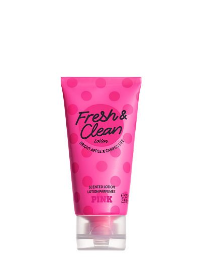 PINK Mini Scented Lotion, Fresh & Clean, featured, 1 of 2