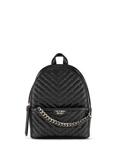 Victoria's Secret, Victoria's Secret Studded V-Quilt Small City Backpack, featured, 1 of 5