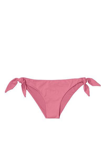 8342408cdb68 Victoria's Secret, Miss Bikini new Luxe Side Tie Bottom, Pink,  offModelFront, 1