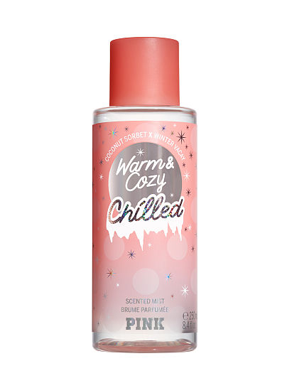 PINK new Limited Edition Chilled Scented Mists, Warm & Cozy Chilled, offModelFront, 1 of 2