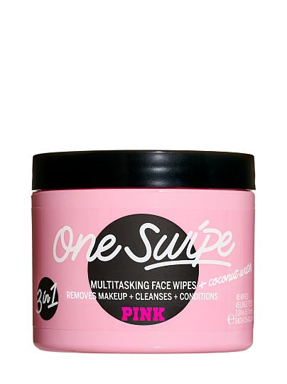 PINK One Swipe Multi-tasking Face Wipes, Coconut Water, offModelFront, 1 of 4