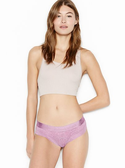 Victoria's Secret, The Lacie new Logo Waist Cheeky Panty, Sunset Purple,