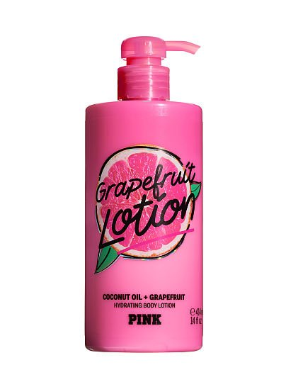 PINK Grapefruit Lotion Hydrating Body Lotion with Coconut Oil , Grapefruit,